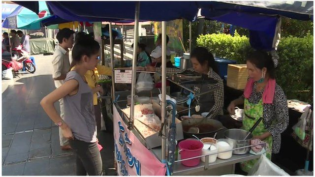 Street traders, Bangkok
