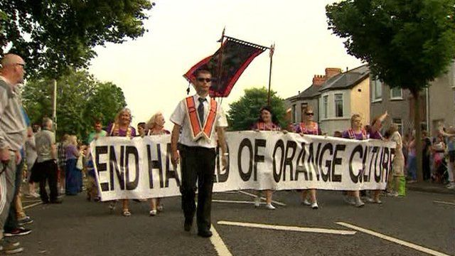 The Orange Order applied to complete a parade that was restricted on 12 July last year