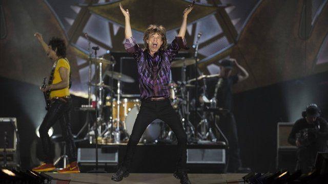 Sir Mick Jagger and Robbie Wood perform in Tel Aviv