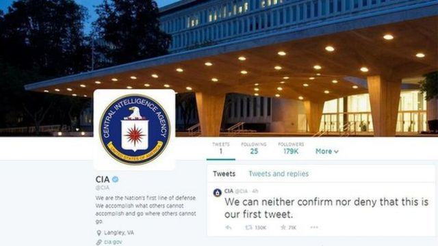 CIA launches Twitter and Facebook accounts