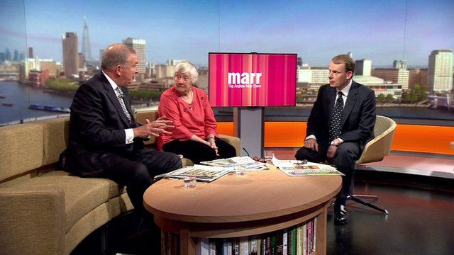 Baroness Shirley Williams and Admiral Lord West with Andrew Marr