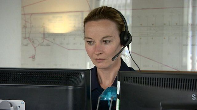 Control room worker