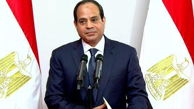 Abdul Fattah al-Sisi is sworn in