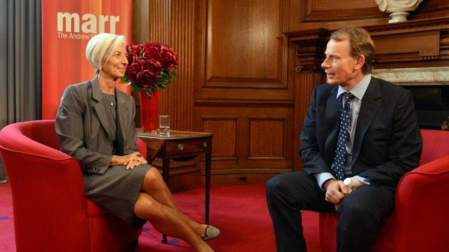 Andrew Marr and Christine Lagarde