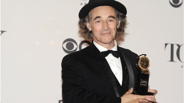 Mark Rylance and his Tony award