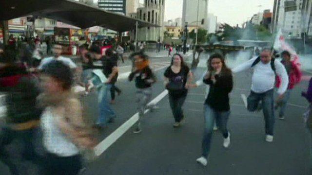 Brazil street violence