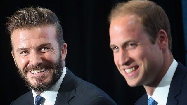 David Beckham and Duke of Cambridge