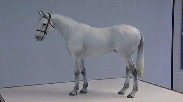 Ebbsfleet white horse model