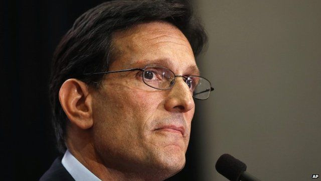 Eric Cantor delivering concession speech