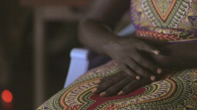 South Sudanese woman's hand