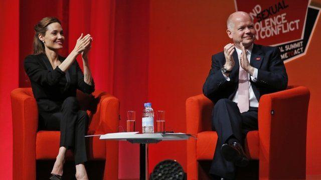 Angelina Jolie & William Hague