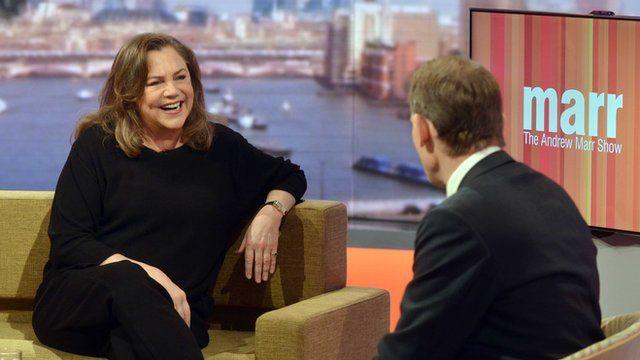 Kathleen turner talks to Andrew Marr