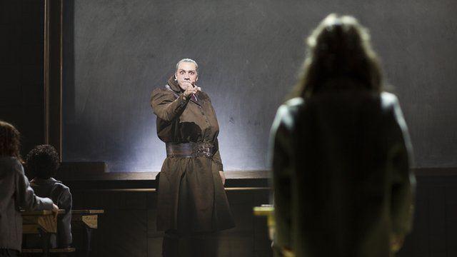 Alex Gaumond playing Miss Trunchbull in Matilda The Musical