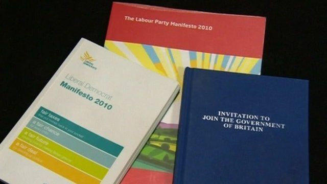 2010 party manifestos