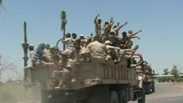 New ISIS recruits on board a vehicle in Baghdad