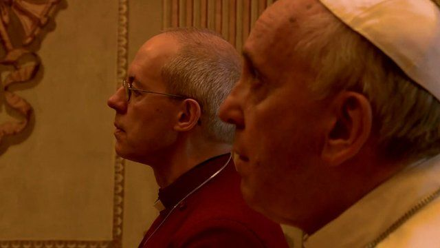 The Archbishop of Canterbury, Justin Welby and Pope Francis