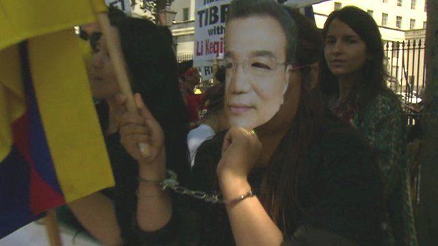 Protest on Whitehall