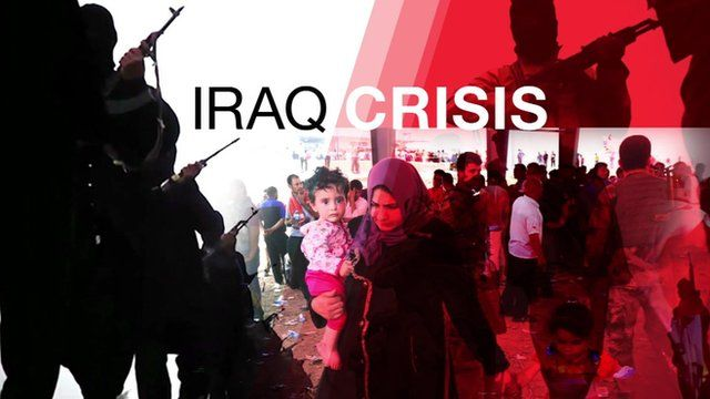 Graphic shows women, children and soldiers in Iraq