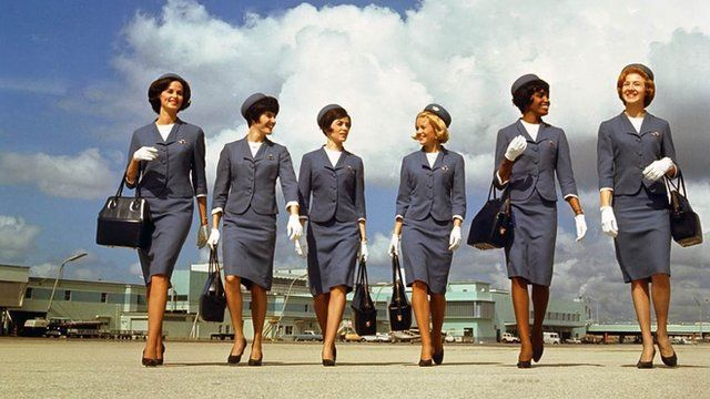 Air stewardesses from the 1950s