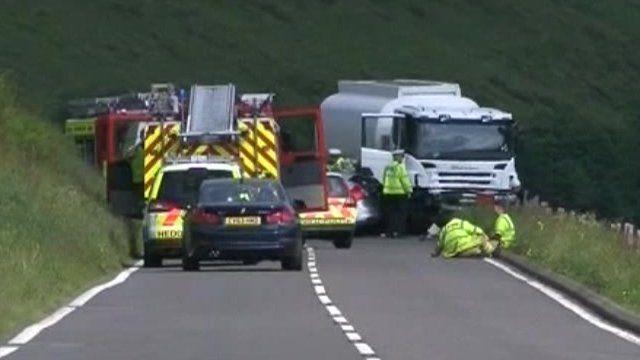 Picture of the crash scene