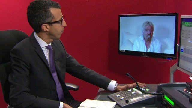 Interviewing Richard Branson