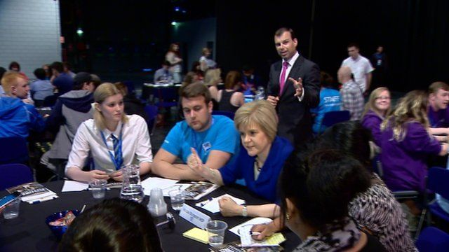 James Cook at the Scottish government youth event in Glasgow