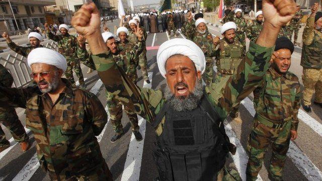 Mehdi Army fighters in Najaf