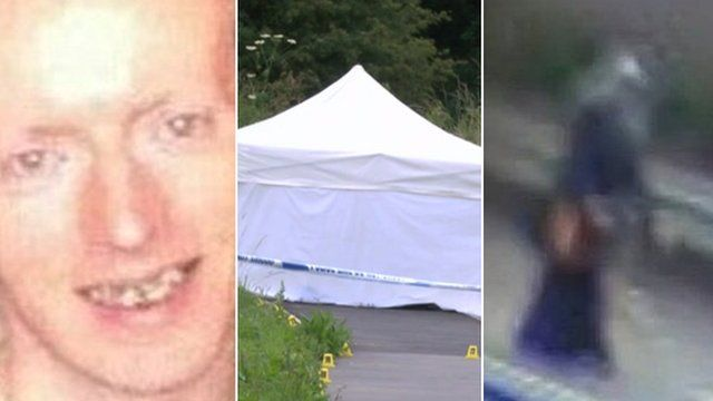 Colchester murders composite: James Attfield, police tent and Nahid Almanea CCTV image