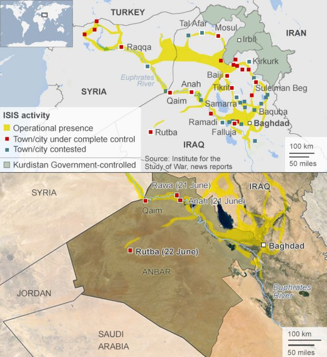 Iraq crisis: Rutba latest western town to fall to Isis