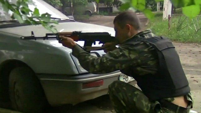 Pro-Russian fighter in Ukraine