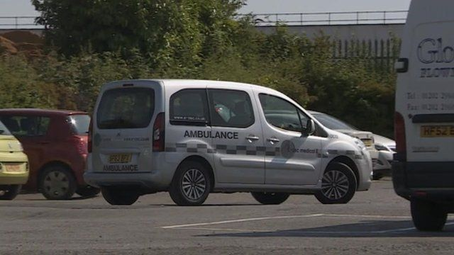 A non-emergency ambulance in Dorset