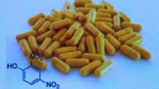 Yellow DNP capsules