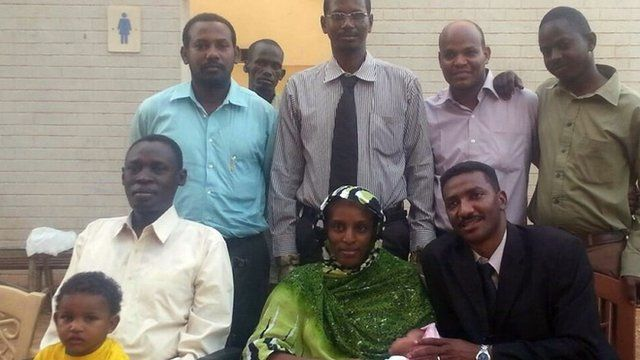Meriam Ibrahim with legal team