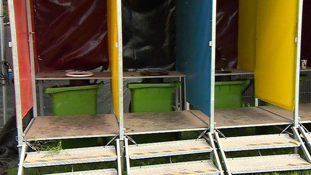 Glastonbury festival loos
