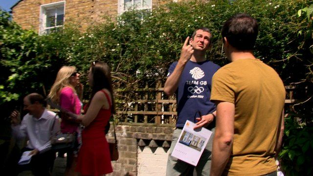 Prospective buyers in east London
