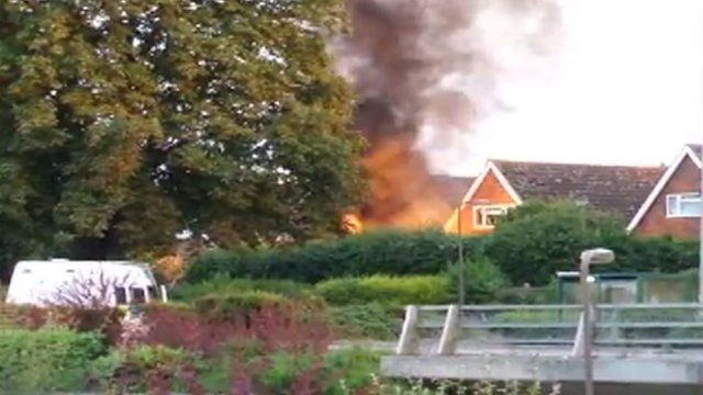 Garage explosion Bletchley