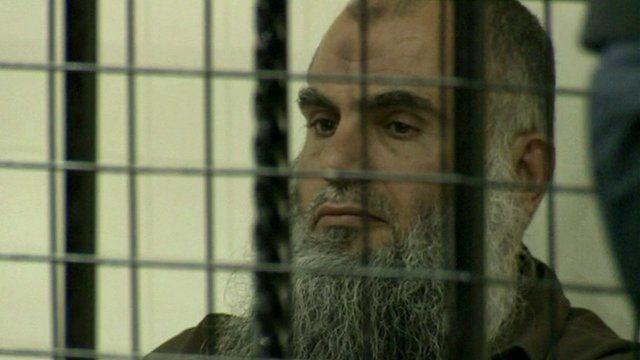 Abu Qatada in court cell