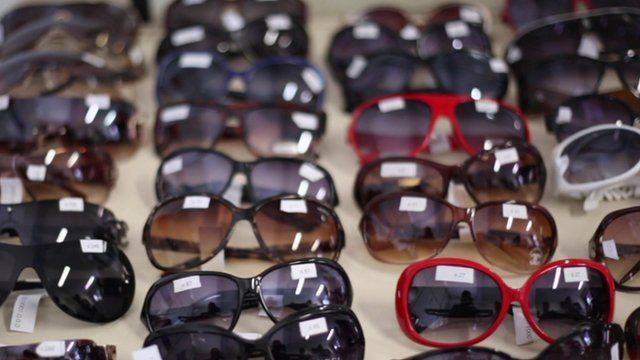 rows of sunglasses