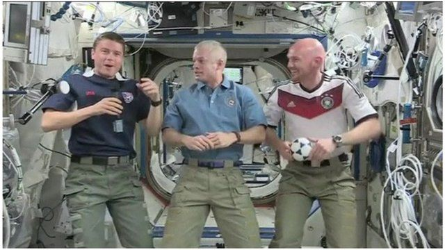 German and US astronauts