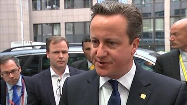 David Cameron speaking in Brussels