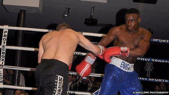 Lance Ferguson-Prayogg in the ring.