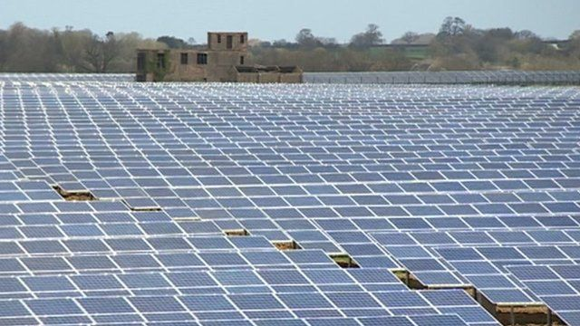 Wymeswold, in Leicestershire, has the UK's largest solar farm - generating renewable energy from sunlight