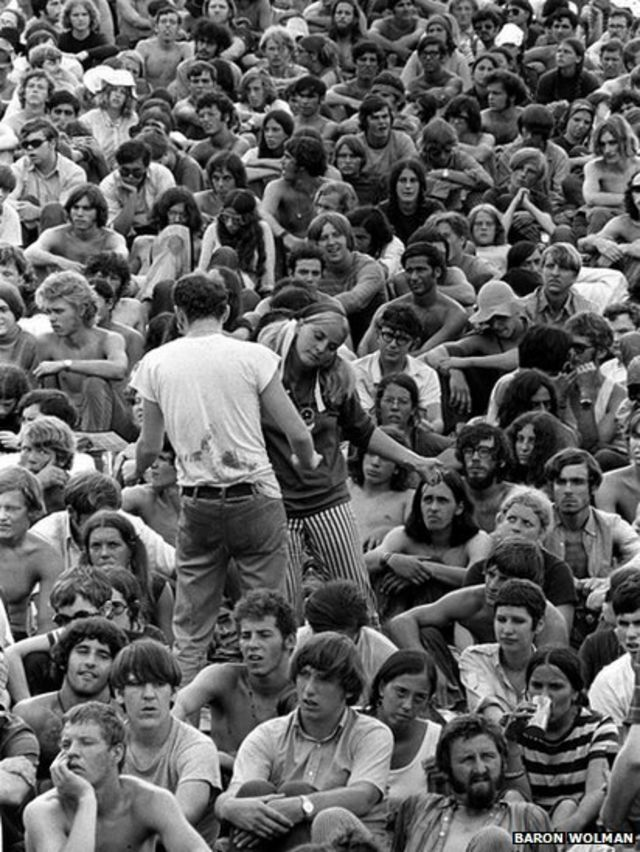 Unseen Woodstock photographs displayed 45 years on