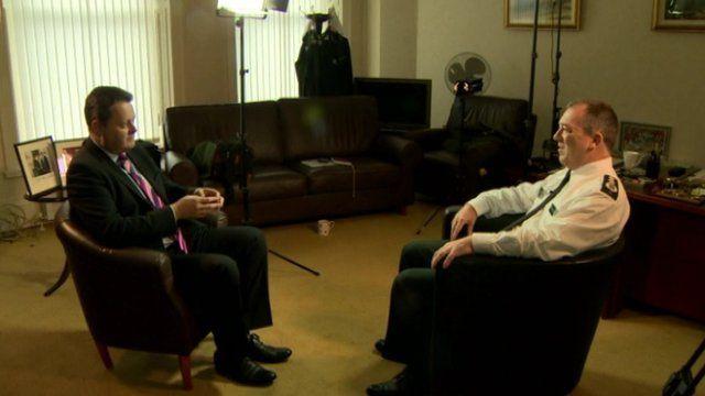 Matt Baggott was speaking to BBC News NI's Vincent Kearney