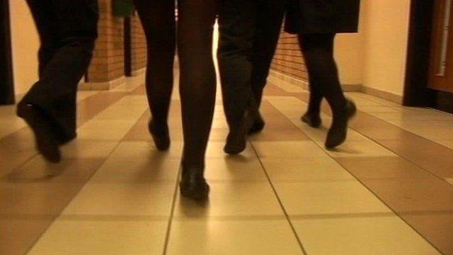 Pupils in corridor