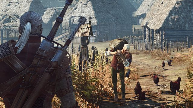 """Scene from """"The Witcher"""" computer game"""