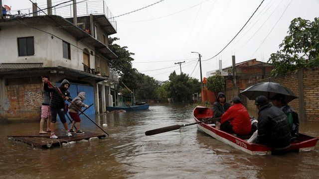 Floods caused by torrential rains