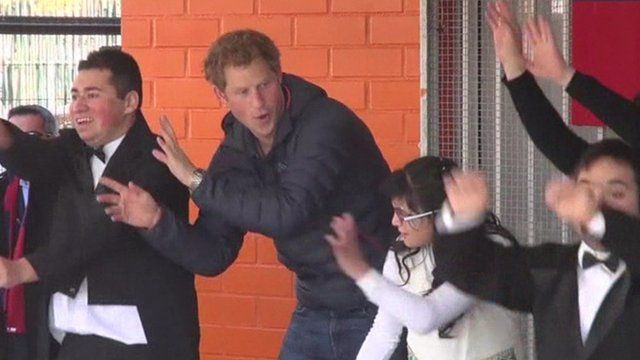 Prince Harry at centre for disabilities