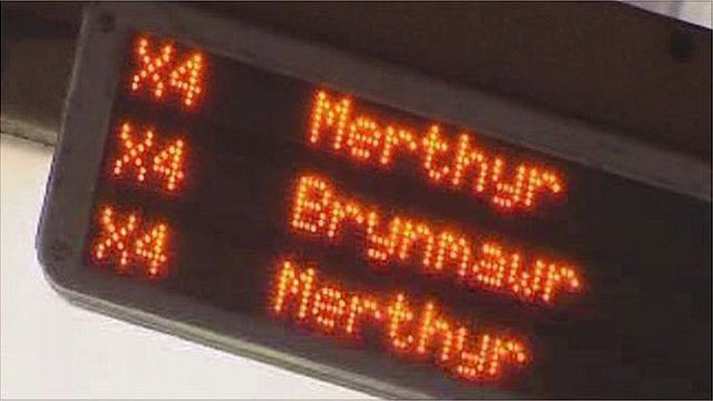 Bus timetable sign