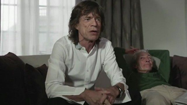 Mick Jagger and Charlie Watts